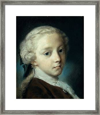 Carriera Rosalba, Portrait Of A Young Framed Print by Everett