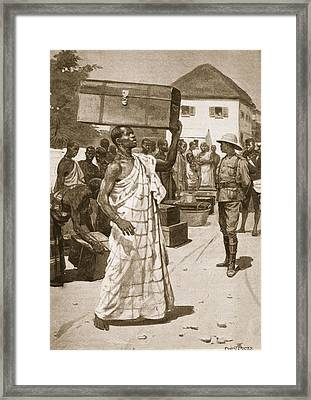 Carriers Starting From Cape Coast Framed Print by Ernest Prater