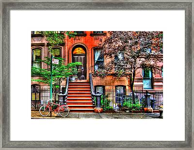 Carrie's Place - Sex And The City Framed Print by Randy Aveille