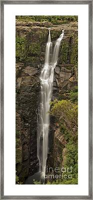 Carrington Falls Framed Print by Donald Goldney