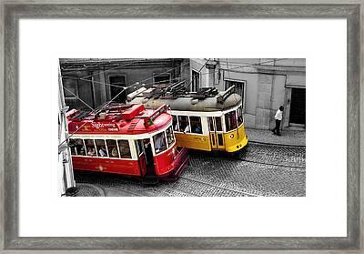 Carris @ Lisboa Framed Print