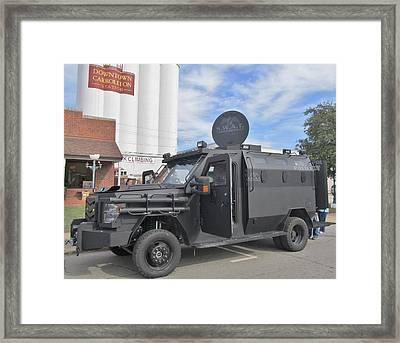 Carrollton Texas Police Vehicle Framed Print by Donna Wilson