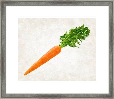 Carrot Framed Print by Danny Smythe