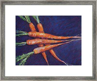 Carrot Stack Framed Print by Kelley Smith