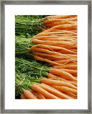Framed Print featuring the digital art Carrots by Ron Harpham