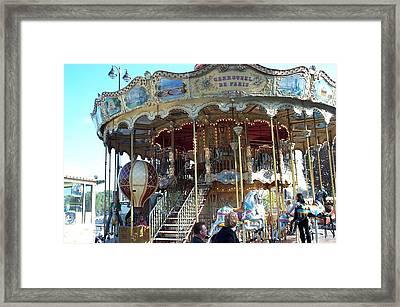 Framed Print featuring the photograph Carrousel De Paris by Barbara McDevitt