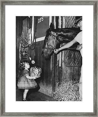 Carry Back Horse Racing Vintage Framed Print by Retro Images Archive