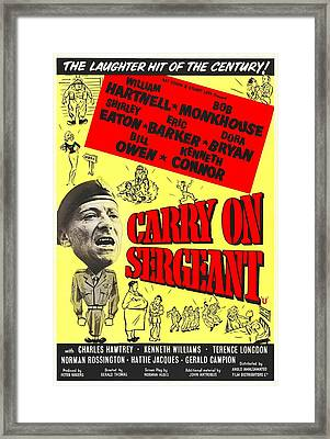 Carry On Sergeant, British Poster Framed Print by Everett