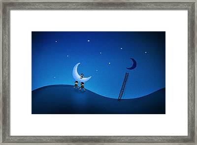 Carry The Moon Framed Print by Gianfranco Weiss