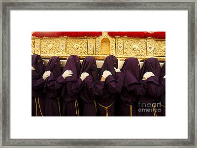 Carrying The Throne Framed Print by Perry Van Munster