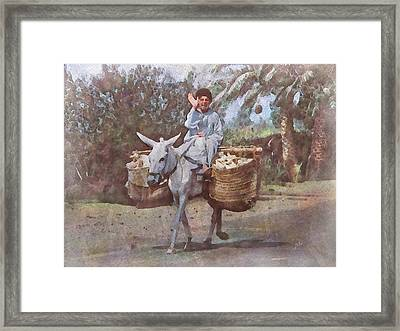 Cars Aren't Always Appreciated On This Road Framed Print