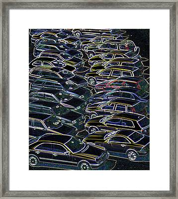 Cars In A Car Park Framed Print by Sheila Terry/science Photo Library