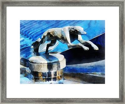 Cars - Lincoln Greyhound Hood Ornament Framed Print