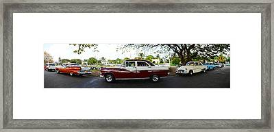Cars Moving On The Road, Havana, Cuba Framed Print by Panoramic Images