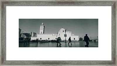 Cars Parked In Front Of A Mosque Framed Print by Panoramic Images