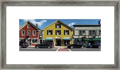 Cars Parked In Front Of Stores, Camden Framed Print