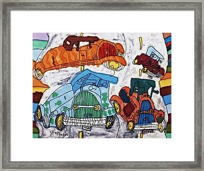 Cars Framed Print by Stephanie Ward