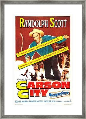 Carson City, Us Poster, Randolph Scott Framed Print by Everett