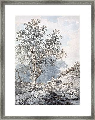 Cart And Horse Framed Print by Joseph Constantine Stadler