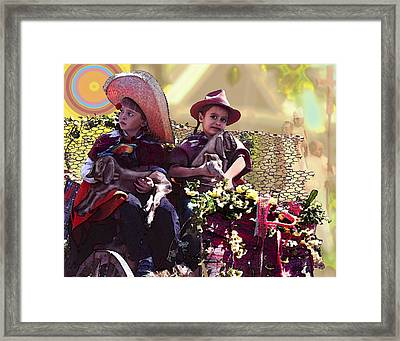 Cart Boys Framed Print