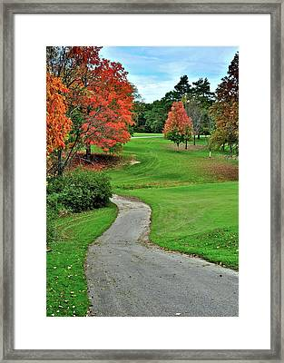 Cart Path Framed Print by Frozen in Time Fine Art Photography