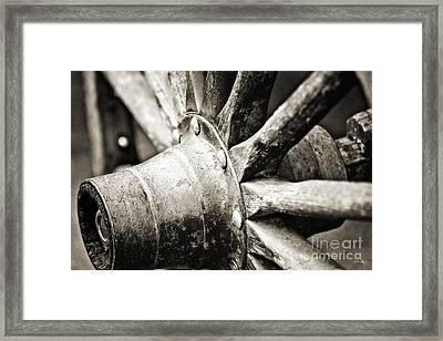 Cart Wheel Framed Print by Scott Pellegrin