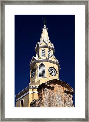 Cartagena Double Time Framed Print by John Rizzuto