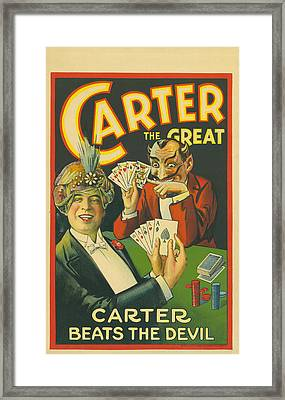 Carter Beats The Devil Framed Print by Underwood Archives