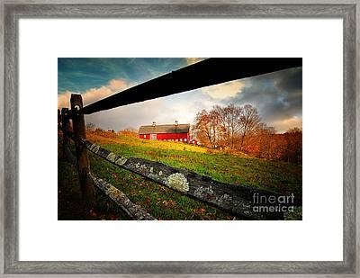 Carter Farm Connecticut Framed Print