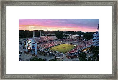 Carter-finley Stadium Framed Print by Elevated Perspectives LLC