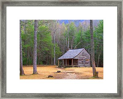 Carter Shield's Cabin II Framed Print by Jim Finch