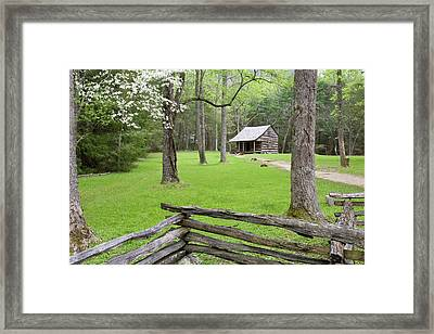 Carter Shields Cabin In Spring, Cades Framed Print by Richard and Susan Day
