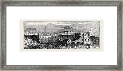 Carthagena After The Siege Scene Of Explosion Of Artillery Framed Print