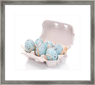 Carton Of Easter Eggs Framed Print by Amanda Elwell
