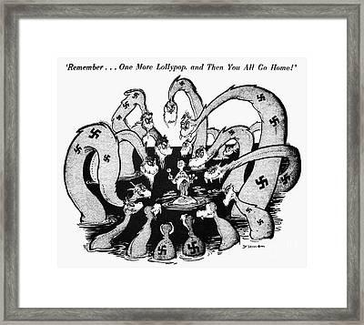 Cartoon - World War II Framed Print by Granger
