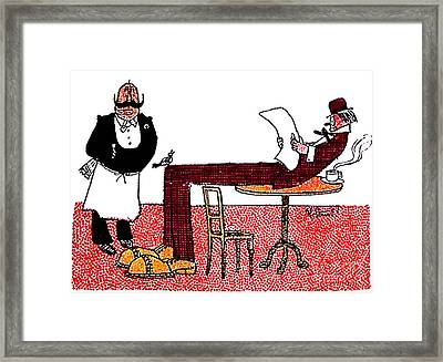 Cartoon 06 Framed Print by Svetlana Sewell