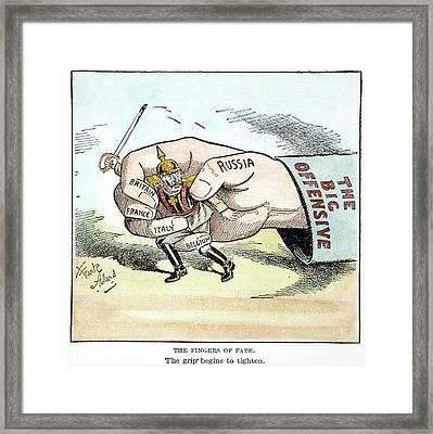 Cartoon Allied Strength Framed Print by Granger