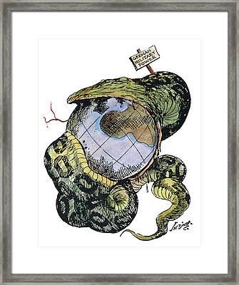 Cartoon Anti-german, C1917 Framed Print by Granger