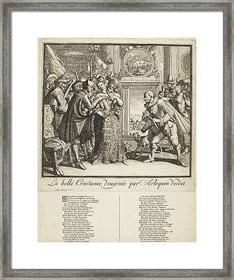 Cartoon By Louis Xiv And The Persecution Of Protestants Framed Print by Gisling And Romeyn De Hooghe