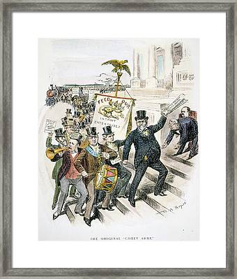 Cartoon Coxey Army, 1894 Framed Print by Granger
