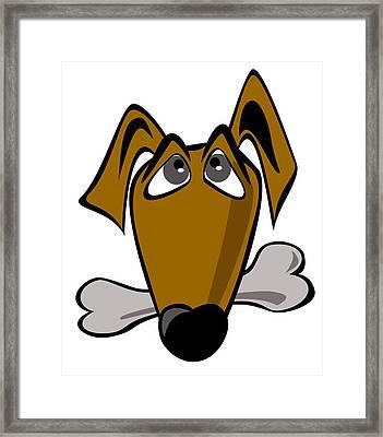 Cartoon Dog Framed Print by Volodymyr Horbovyy