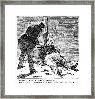 Cartoon Drunkenness, 1869 Framed Print by Granger
