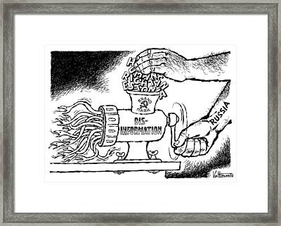 Cartoon Estonia, 1992 Framed Print