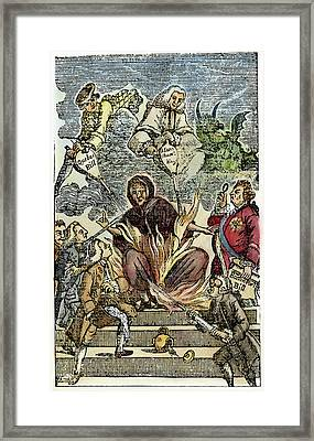 Cartoon Intolerable Acts, C1774 Framed Print
