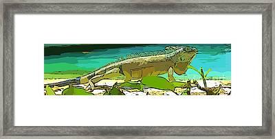 Cartoon Lizard Framed Print