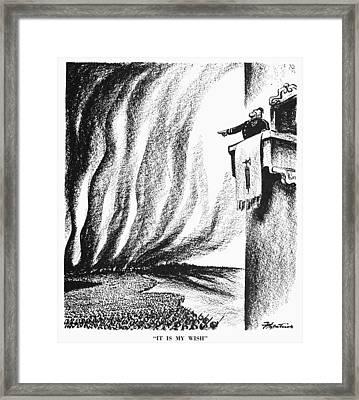Cartoon: Mussolini, 1940 Framed Print