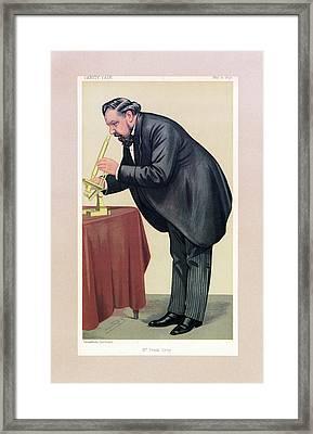 Cartoon Of Frank Crisp Framed Print