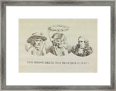 Cartoon On Equality And Brotherhood, 1795 Framed Print