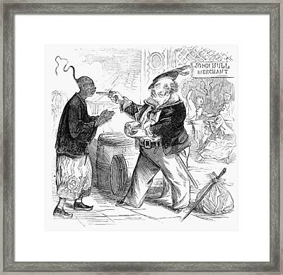 Cartoon Opium War, 1864 Framed Print