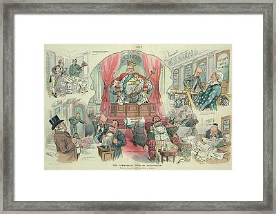 Cartoon Puck, 1905 Framed Print by Granger